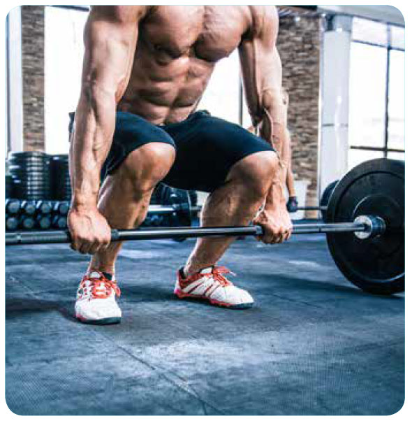 fit man lifting weights