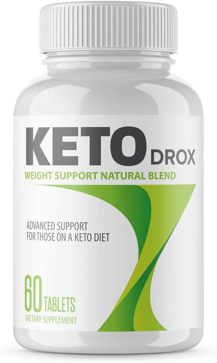 Bottle of keto drox
