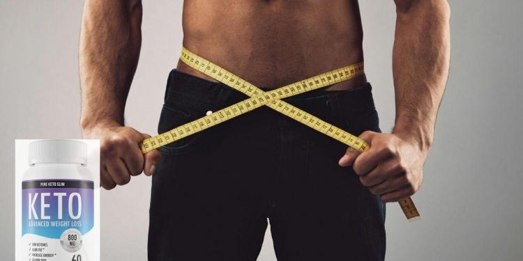 male measuring his waist