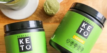 perfect keto greens bottles on the table
